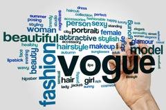 Nube de la palabra de Vogue fotos de archivo