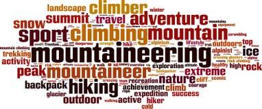 Nube de la palabra del alpinismo libre illustration