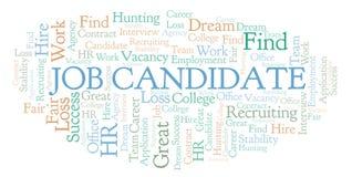 Nube de la palabra del candidato de trabajo libre illustration