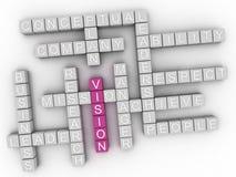nube de la palabra del concepto de 3d Vision Fotografía de archivo libre de regalías