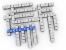 nube de la palabra del concepto de la excelencia 3d Foto de archivo libre de regalías