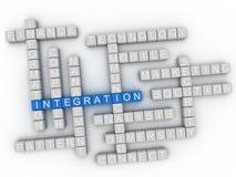 nube de la palabra del concepto de la integración 3d Imagen de archivo