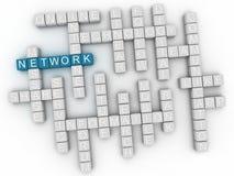 nube de la palabra del concepto de la red 3d Imagen de archivo libre de regalías