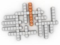 nube de la palabra del concepto de la solución 3d Imagen de archivo