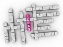 nube de la palabra del concepto de las ideas 3d Fotos de archivo libres de regalías