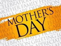 Nube de la palabra del día del ` s de la madre Fotografía de archivo libre de regalías