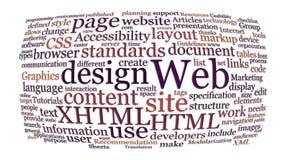 Nube de la palabra del diseño de Web Imágenes de archivo libres de regalías