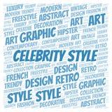 Nube de la palabra del estilo de las celebridades stock de ilustración