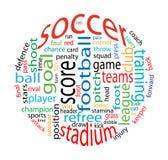 Nube de la palabra del fútbol Imagen de archivo
