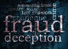 Nube de la palabra del fraude Fotografía de archivo