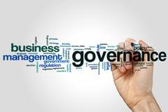Nube de la palabra del gobierno imagen de archivo libre de regalías