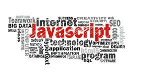 Nube de la palabra del Javascript ilustración del vector
