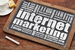 Nube de la palabra del márketing de Internet Fotos de archivo