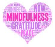 Nube de la palabra del Mindfulness stock de ilustración