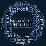 Nube de la palabra del negocio global Fotografía de archivo