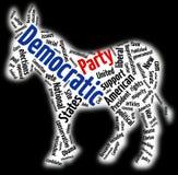 Nube de la palabra del partido Democratic Imagenes de archivo
