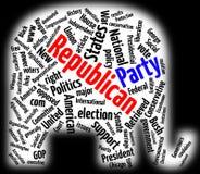 Nube de la palabra del Partido Republicano Imágenes de archivo libres de regalías