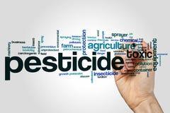 Nube de la palabra del pesticida imagen de archivo libre de regalías
