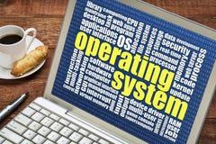 Nube de la palabra del sistema operativo Fotografía de archivo libre de regalías