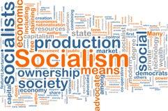 Nube de la palabra del socialismo Fotografía de archivo