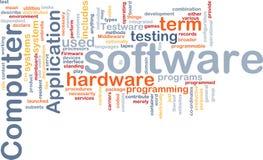 Nube de la palabra del software ilustración del vector