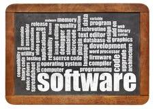 Nube de la palabra del software Imagen de archivo libre de regalías