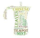 Nube de la palabra del té foto de archivo libre de regalías