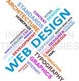 Nube de la palabra - diseño de Web Foto de archivo
