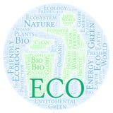 Nube de la palabra de Eco ilustración del vector