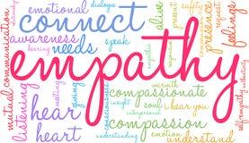 Nube de la palabra de la empatía Imagen de archivo