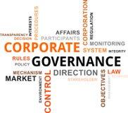 Nube de la palabra - gobierno corporativo Fotos de archivo