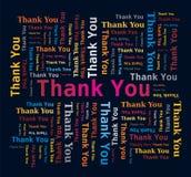 Nube de la palabra - gracias Imagen de archivo libre de regalías