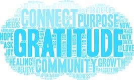 Nube de la palabra de la gratitud Foto de archivo libre de regalías