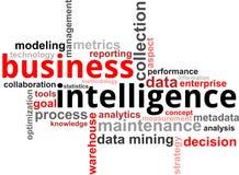 Nube de la palabra - inteligencia empresarial Foto de archivo libre de regalías