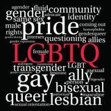 Nube de la palabra de LGBTQ libre illustration