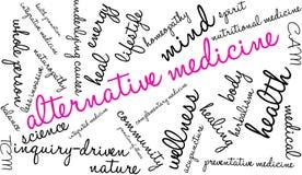 Nube de la palabra de la medicina alternativa stock de ilustración