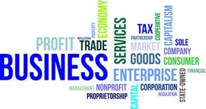 Nube de la palabra - negocio Imagen de archivo