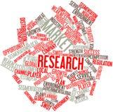 Nube de la palabra para el estudio de mercados Imágenes de archivo libres de regalías