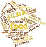 Nube de la palabra para la comida basura Imagen de archivo