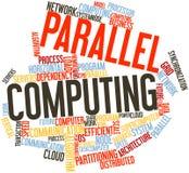 Nube de la palabra para la computación paralela Imagen de archivo