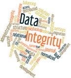 Nube de la palabra para la integridad de datos Imagen de archivo