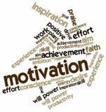 Nube de la palabra para la motivación Foto de archivo