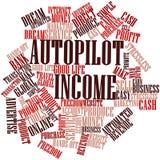 Nube de la palabra para la renta del piloto automático Foto de archivo