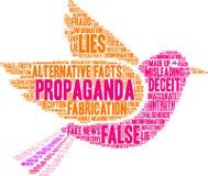 Nube de la palabra de la propaganda stock de ilustración