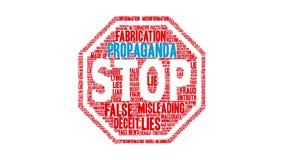 Nube de la palabra de la propaganda almacen de metraje de vídeo