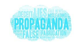 Nube de la palabra de la propaganda ilustración del vector