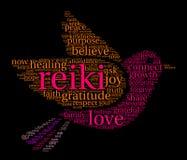 Nube de la palabra de Reiki Fotos de archivo