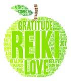 Nube de la palabra de Reiki Fotografía de archivo libre de regalías