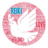 Nube de la palabra de Reiki Imagen de archivo