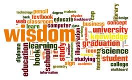 Nube de la palabra de la sabiduría libre illustration